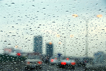 traffic rainy day