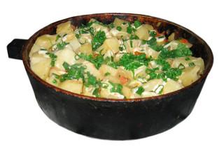 dinner in pan