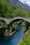 bridge in lavertezzo, verzasca valley poster