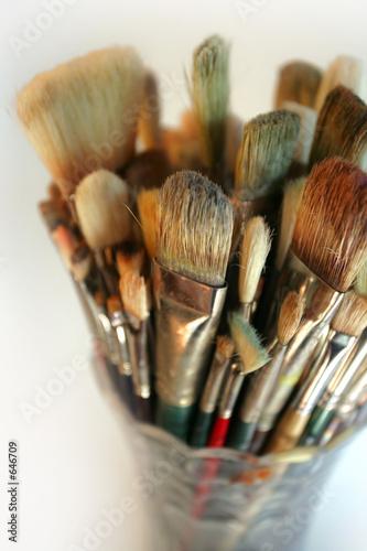 vase of used brushes t-shirt