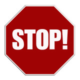 stop sign button poster