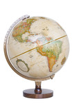 antique globe poster