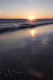 sand bubbles - malibu sunset poster