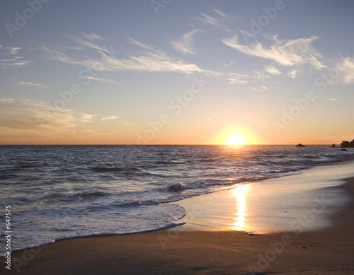 Fotobehang Los Angeles malibu sunset