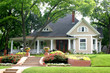 classic house with flower garden - 649185