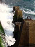 big waves crashing poster