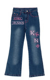 blue children girl jeans isolated poster