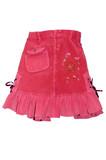 red children girl mini skirt isolated poster