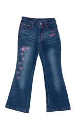 blue children girl jeans isolated
