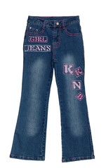 blue children girl jeans isolated