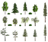 summer trees billboard collection on white poster