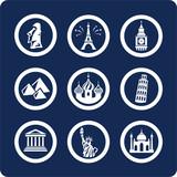 world famous places icons (set 99, part 1) poster
