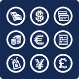 money and finance icons (set 10, part 2) poster
