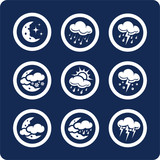 weather icons (set 7, part 2) poster