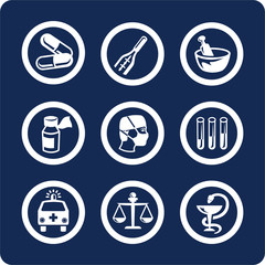 medicine and health icons (set 6, part 1)