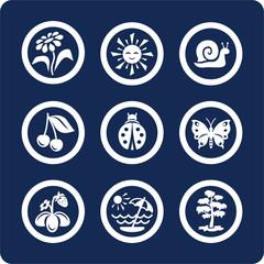 seasons: summer icons (set 4, part 1)