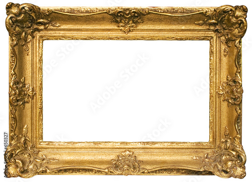 gold plated wooden picture frame w/ path (wide) - 650327