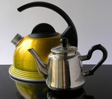 a kettle and a tea-pot poster