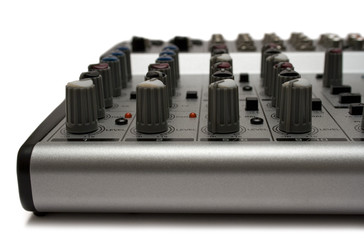 mixing desk (top front view)