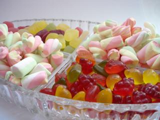 marshmallows and gummi candies