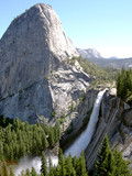 nevada fall from john muir trail, yosemite