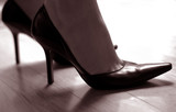 woman in high heels poster