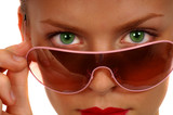 woman with sunglasses poster