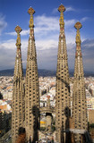 steeples of the sagrada familia