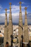 steeples of the sagrada familia