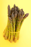 bunch of green asparagus poster