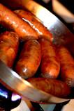 italian sausage frying poster
