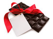 chocolate with red ribbon - st. valentines' day