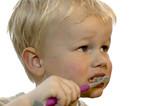kid brushing teeth poster