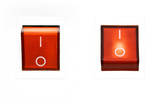 Fototapety red power switch - on/off