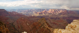 grand canyon with cloudy skies panorama poster