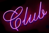 club neon sign poster