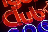 nightlife neon signs poster