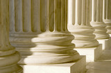 architectural columns of a washington building poster