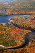 aerial view of the fall colors of new england