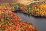 aerial view of the fall colors of new england poster