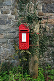 old red post box poster