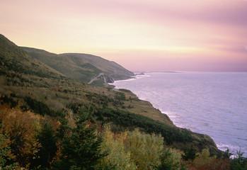 cabot trail sunset