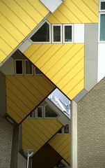 abstract cube houses