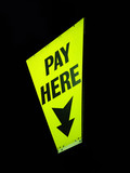 pay here sign poster