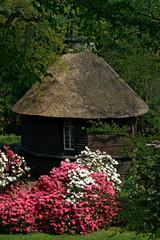 kapelle mit rhododendron