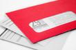 red advertising envelope - 664906