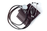 manual blood pressure monitor medical tool isolated poster