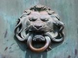 lion door knocker poster