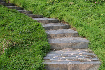 stone stairs in the countryside