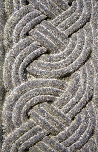 Celtic wood carvings, Celtic crosses and architectural carvings.